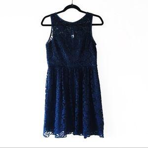 Simply Liliana Navy Blue Lace Dress Sz 8